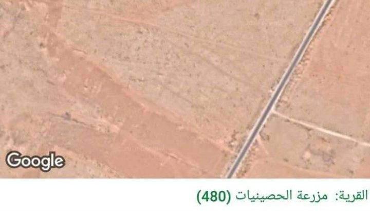 قطعة ارض مميزة في مزرعة الحصينيات البادية الشمالية
