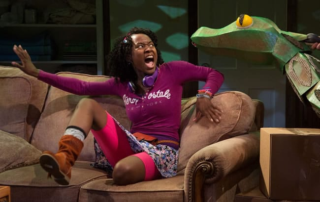 Billie Krishawn as Judy, in Jumanji at Adventure Theatre/MTC (Photo: Michael Horan)