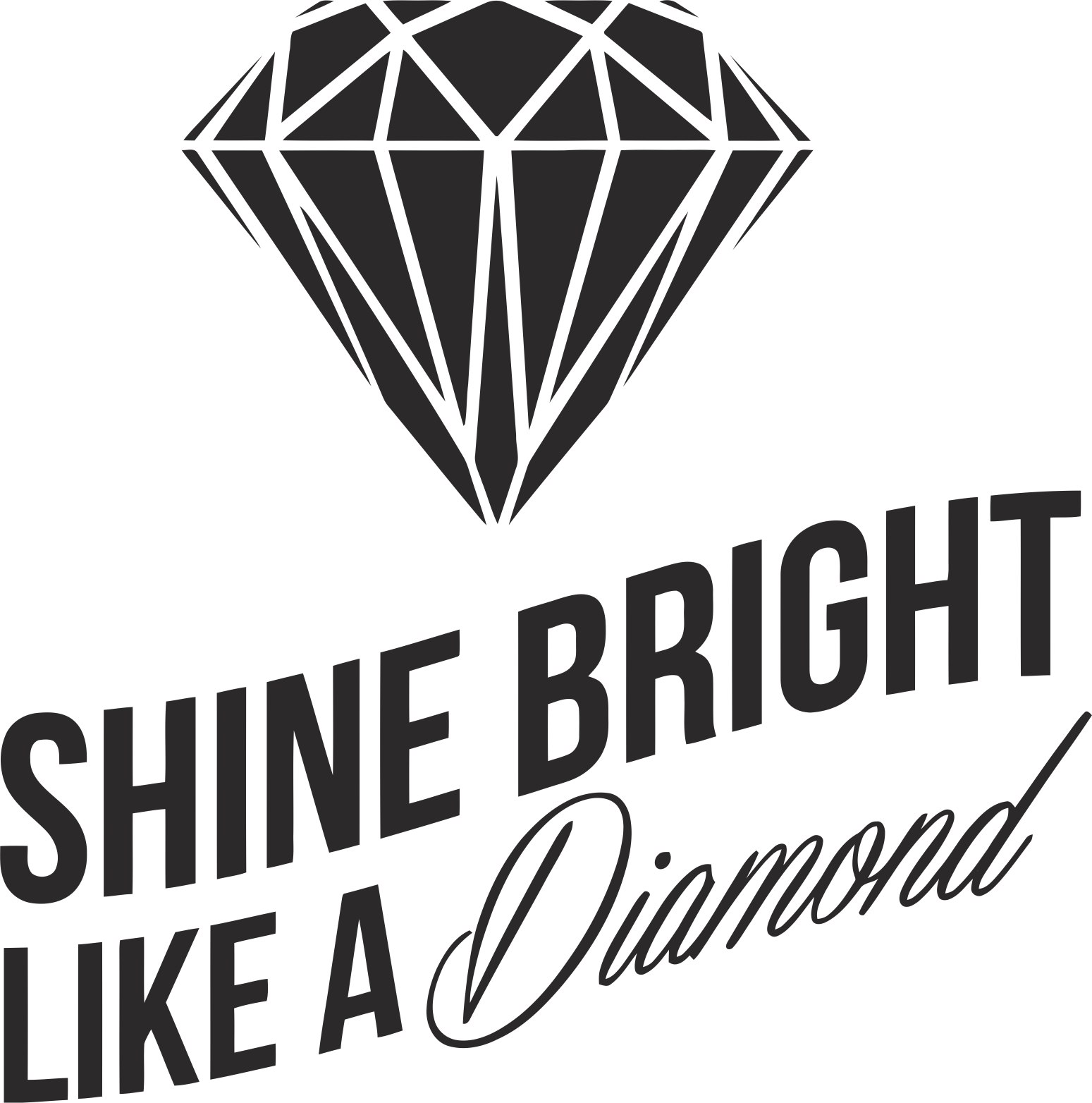Shine Bright Like A Diamond Sticker Vector Free Vector Cdr Download