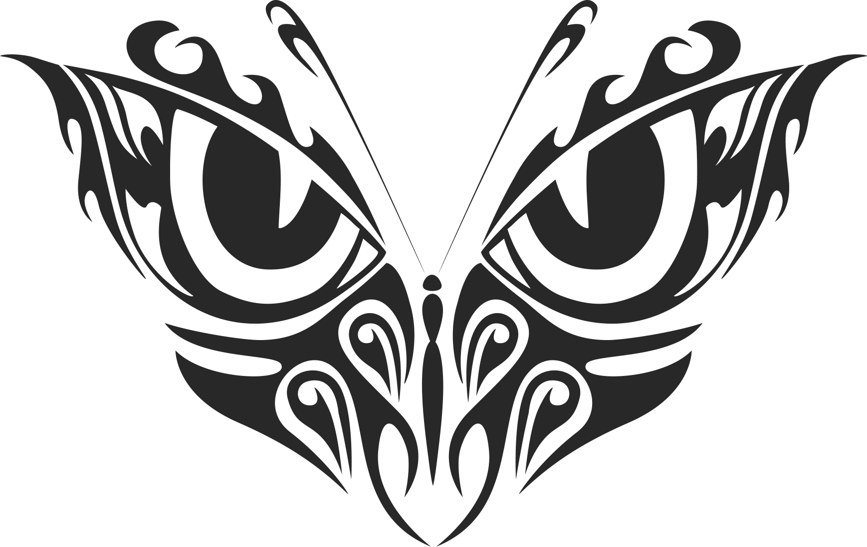 Tribal Butterfly Vector Art 33 Dxf File Free Download