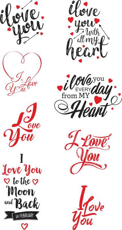 Download I Love U vector art Free Vector cdr Download - 3axis.co