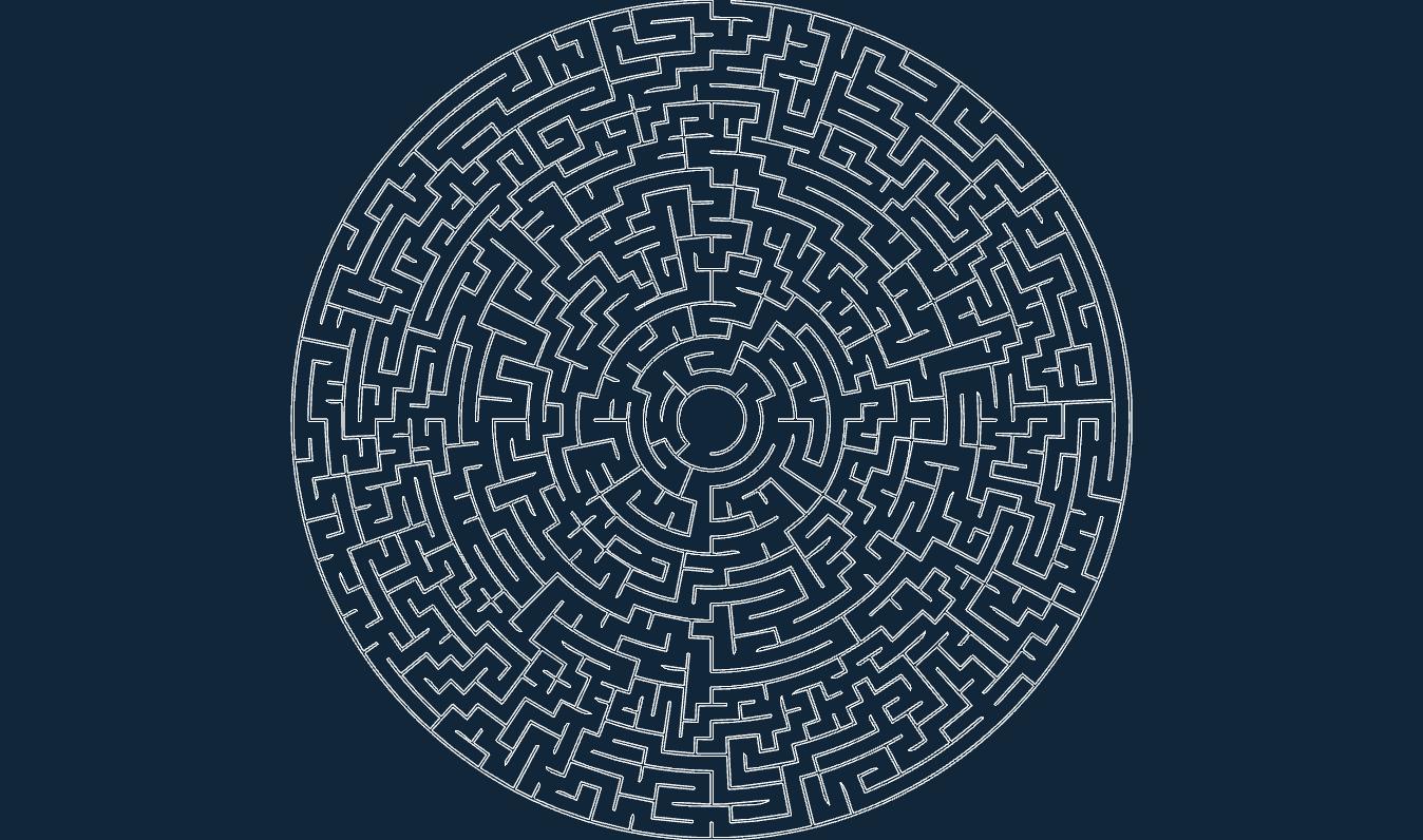 Circular Maze 50 215 5 O Dxf Free Download 3axis Co