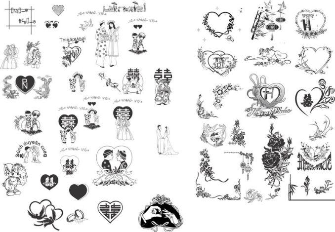 Wedding invitation cdr file newsinvitation vector heart design wedding invitation card cdr file stopboris Image collections
