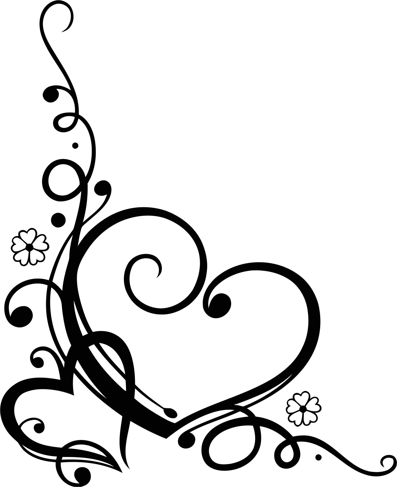 Love Heart Floral Vector Free Vector Cdr Download
