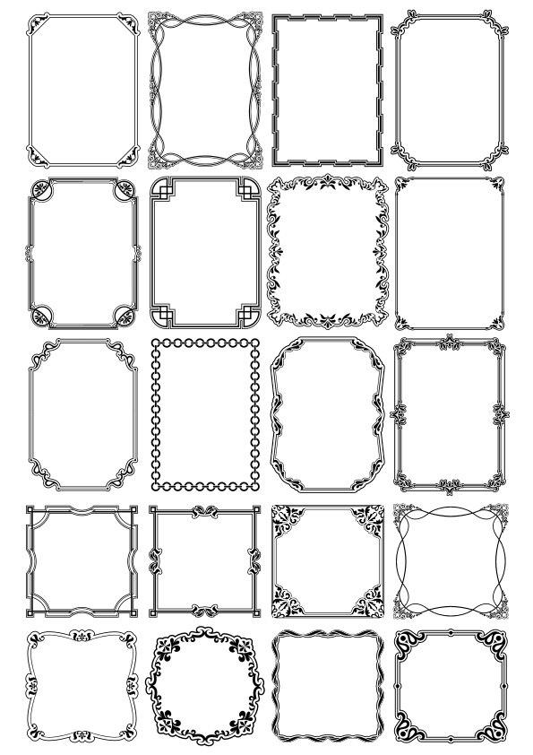 Decorative Page Border Vectors Free Vector Cdr Download 3axis Co