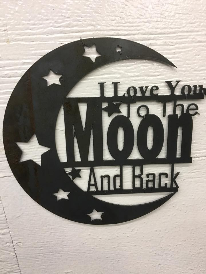 Download I Love You To Moon and Back dxf File Free Download - 3axis.co