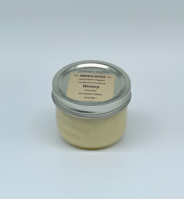 250g jar of cardamon infused and creamed honey