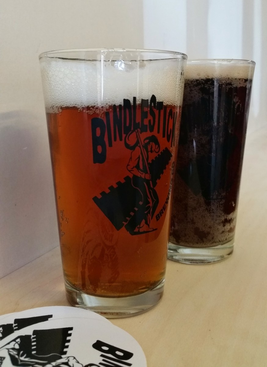 Bindlestick Brewing Company Pint Glasses