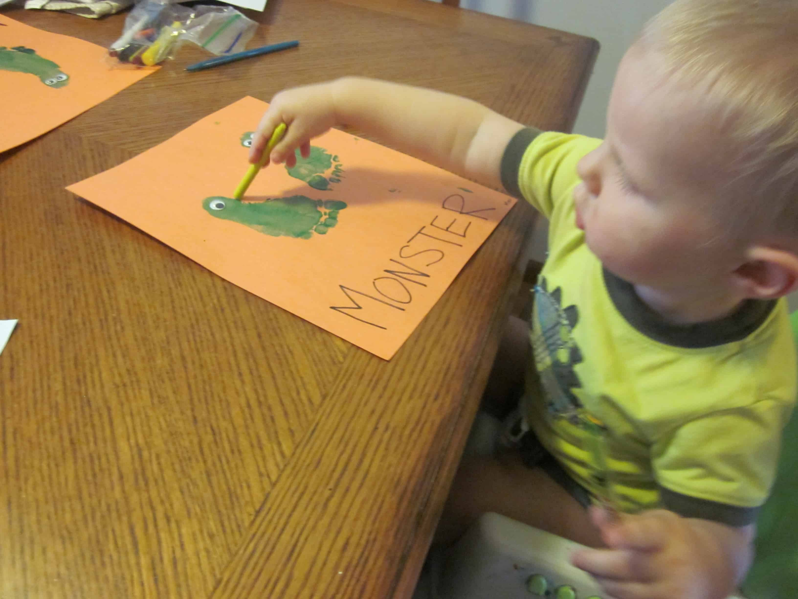 Educational Alphabet Activities For Kids M Is For Monster 3 Boys And A Dog