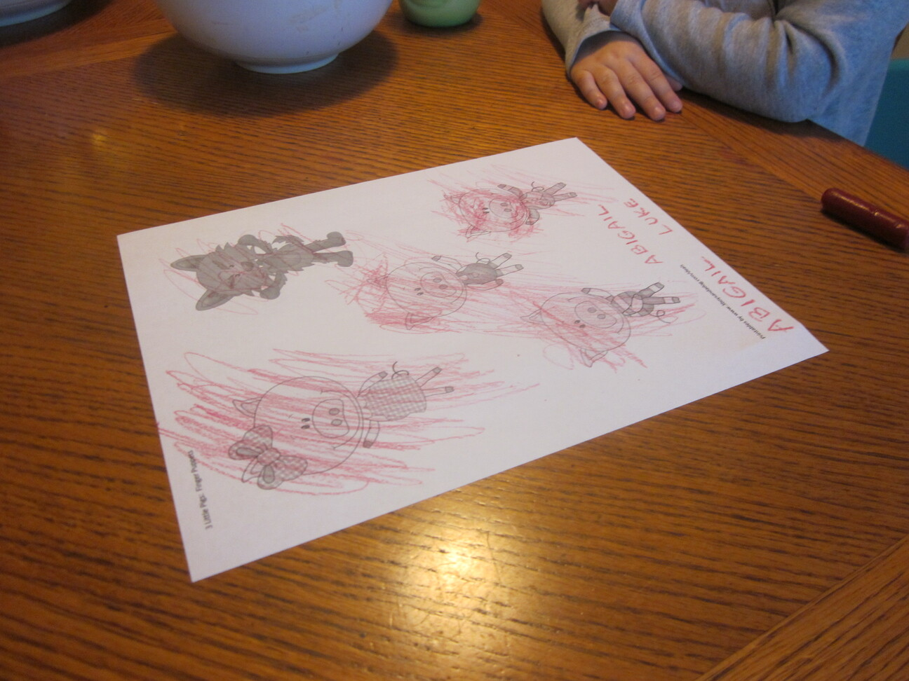Three Little Pigs Sequencing Printable Story Cards 3