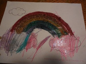 DSCN0935 300x225 Glittery Rainbow {St. Patrick's Day}