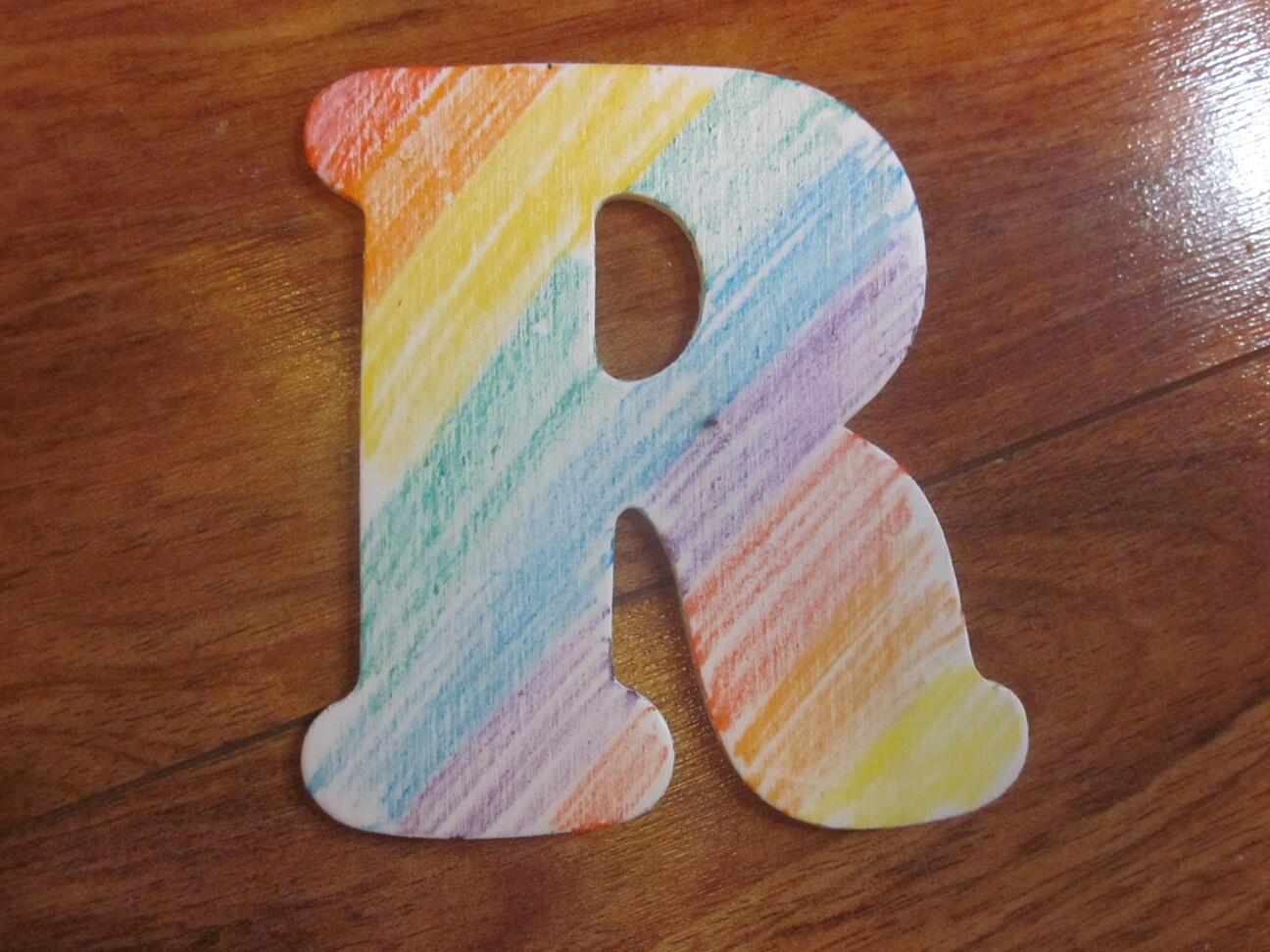 R Is For Rainbow Craft Project Preschool Alphabet 3 Boys And A Dog