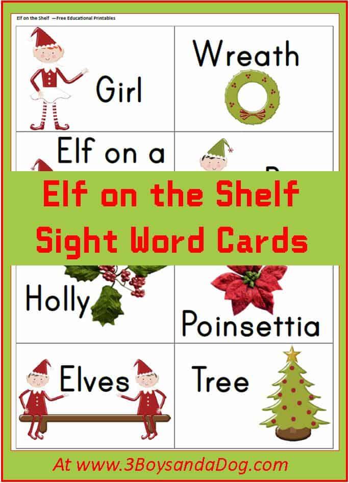 Elf On The Shelf Christmas Printables Reading Flash