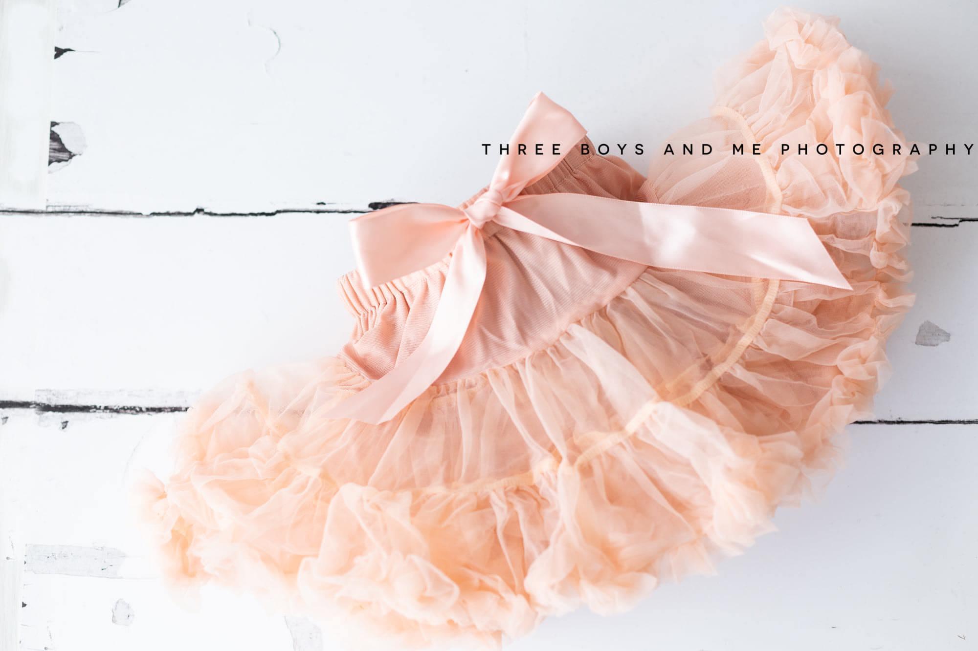 dusty pink tutu available at Bexley cake smash photoshoot