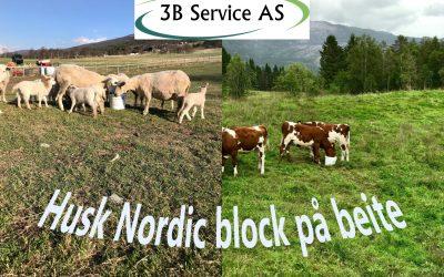 Hvordan lykkes med dyr på beite? Bruk Nordic Block Premium på beite i år