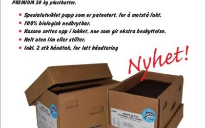 Nordic block PREMIUM 25kg papp er offisiell nyhet 2018.