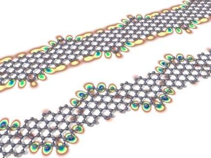 Quantum chains in graphene nanoribbons