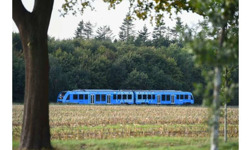 Germany rolls out its first hydrogen powered train, made by the French group Alstom which also builds the high-speed TGV
