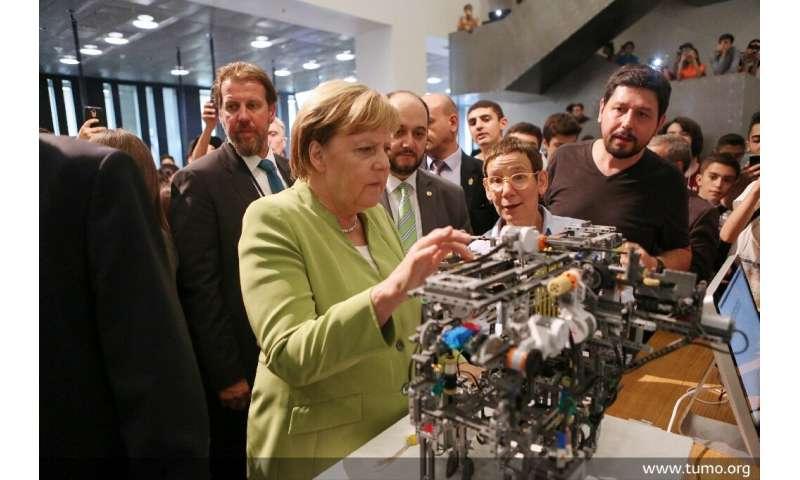 German Chancellor Angela Merkel visited the Tumo school last year, calling it a