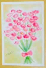3色パステルアート母の日『花束』
