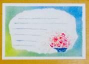 3色パステルアート,母の日,5月,作品