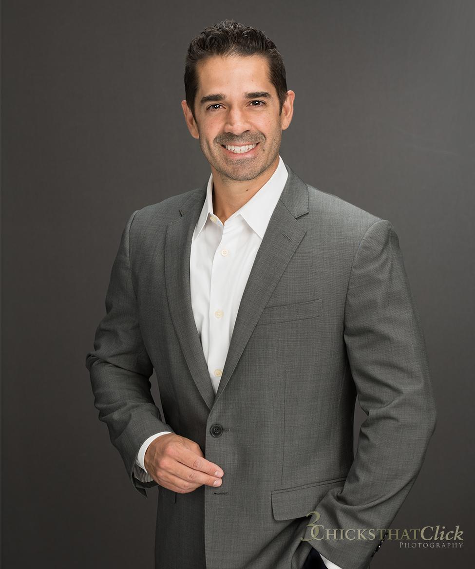 Financial Executive George Dyer, business man, 3 Chicks That Click, business headshot, business portrait