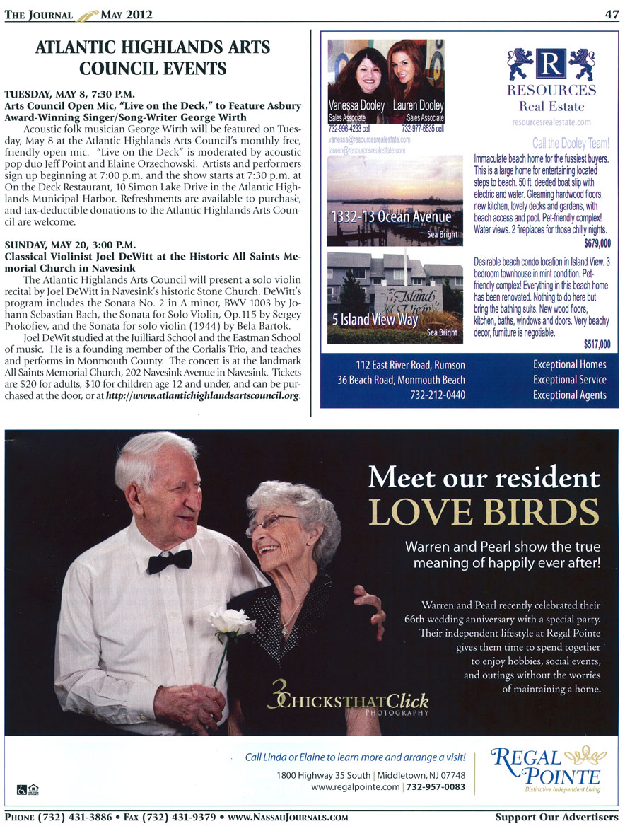 Regal Pointe Independent Living, Journal Feature inside Ad
