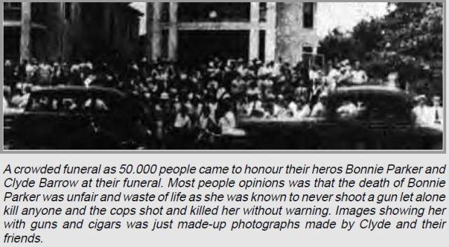 Bonnie Parker funeral.