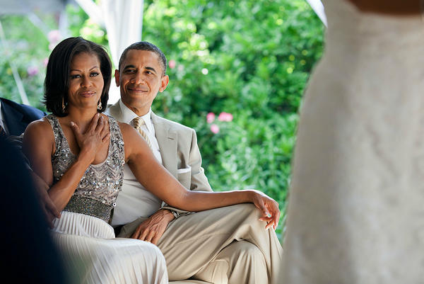 & FLOTUS taken at the wedding of Valerie Jarrett's daughter
