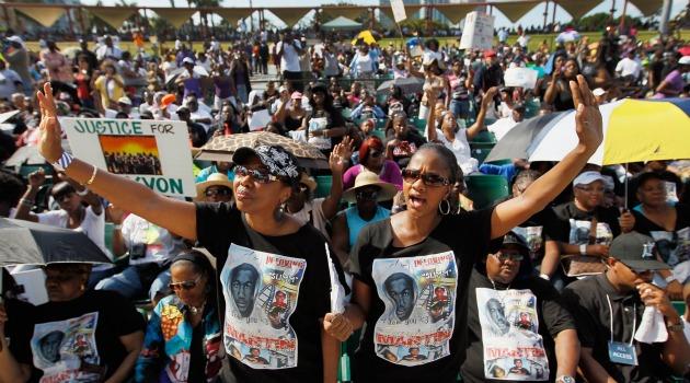 Protesting Trayvon Martin's murder