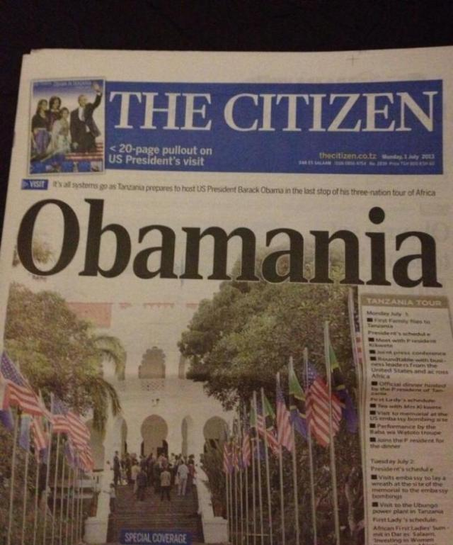 OBAMA FRONT PAGES AFRICA 2013-5