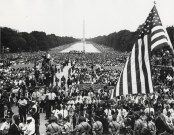 MOW- Attendees assemble at the March on Washington for Jobs and Freedom in Washington on August 28, 1963 (Photo by Robert Joyce-Pennsylvania State University-Flickr)