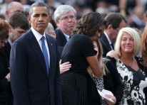President Obama Attends Memorial For Victims Of Navy Yard Shooting
