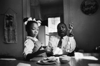 Dr. King explaining to Yolanda why she can't go to Funtown- a whites only amusement park in Atlanta