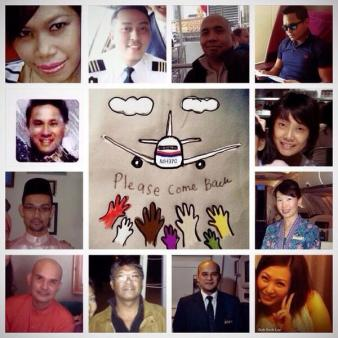 Faces of MH370-A collage of the 12 crew members of MH370