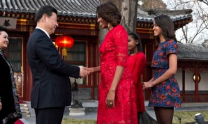 Michelle Obama meets Xi Jinping