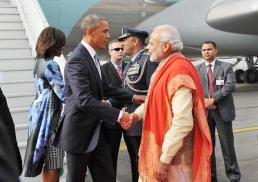 PM narendramodi greets Potus25