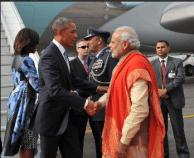 PM narendramodi greets Potus27
