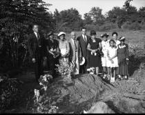 Graveside group portrait, July 28, 1946