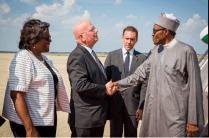 Buhari arrives in America 23