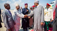 Buhari arrives in America 28