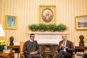 Buhari Meets Obama At The White House