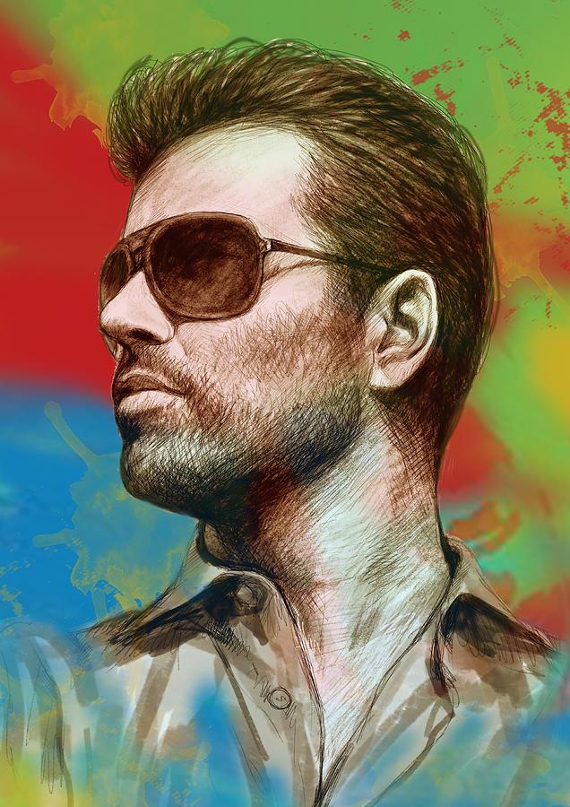 george-michael-stylised-pop-morden-art-drawing-sketch-portrait-kim-wang