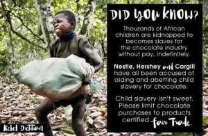 Did you know African children kidnapped to become slaves for chocolate company