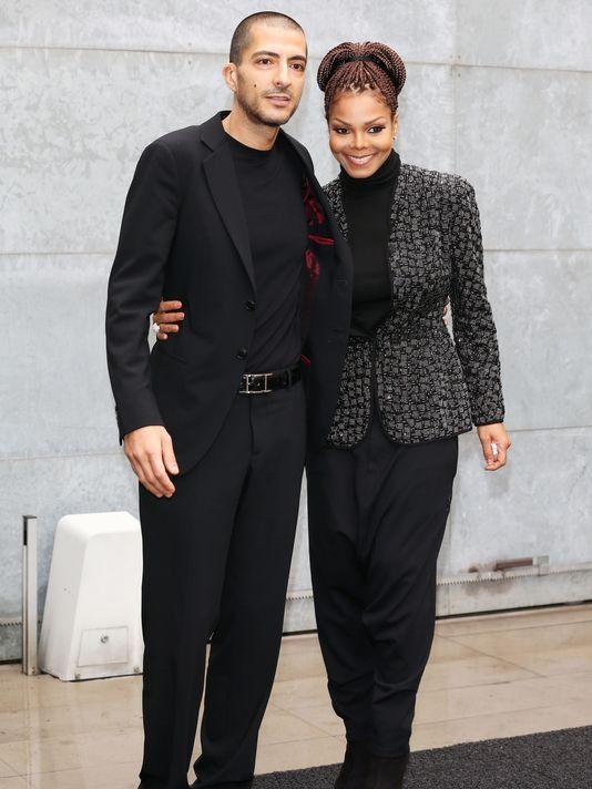 Janet Jackson with husband