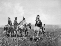 Native American Apsaroke-Chief-and-his-Staff