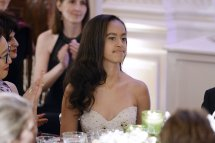 Malia and Sasha Obama first state dinner 30
