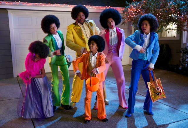 """BLACK-ISH - """"The Prank King"""" - Dre fears his holiday fun will be ruined when the older kids balk at the glorious Johnson Halloween tradition of seeing who can pull the most outlandish pranks on each other, WEDNESDAY, OCTOBER 29 (9:31-10:00 p.m., ET), on the ABC Television Network. (ABC/Greg Gayne) MARSAI MARTIN, MARCUS SCRIBNER, ANTHONY ANDERSON, MILES BROWN, TRACEE ELLIS ROSS, YARA SHAHIDI"""