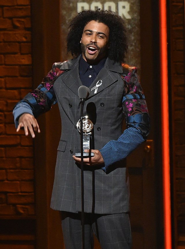 NEW YORK, NY - JUNE 12:  Actor Daveed Diggs accepts the award onstage for Best Performance by an Actor in a Featured Role in a Musical for his work in Hamilton during the 70th Annual Tony Awards at The Beacon Theatre on June 12, 2016 in New York City.  (Photo by Theo Wargo/Getty Images for Tony Awards Productions)