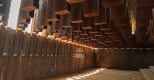 The National Memorial for Peace and Justice, opening in Montgomery, Ala., on Thursday, is dedicated to victims of lynching. Lynsey Weatherspoon for NPR